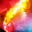 Abstract valentines day background with hearts, eps10 — Stock Vector