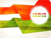 Twórczy flagi indii z grunge tekstur na dzień niepodległości i dzień republiki — Wektor stockowy