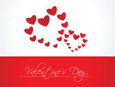 Hearts And Valentine`s Day Card With, Vector Illustration — Stock Vector