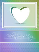 Abstract valentine's day background with hearts, eps10 — Stock Vector