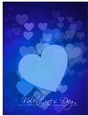 Abstract valentine's day background with hearts, eps10 — Stock vektor
