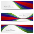 Vector website header or banner set. EPS 10. — Stock Vector #25561123