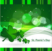 Clovers for St. Patrickday, vector illustration — Stock Vector
