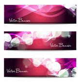 Vector website header or banner set. EPS 10. — Stock Vector
