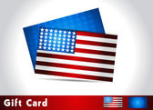 American Flag, Vector background for Independence Day. Illustrat — Stock Vector
