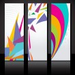 Stock Vector: Vector set of three colorful banners template.