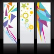Vector set of three colorful banners template. — Stock Vector #35052629
