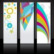 Vector set of three colorful banners template. — Stock Vector