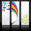Vector set of three colorful banners template. — Stock Vector #35052715