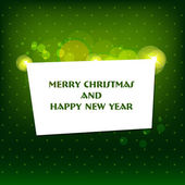 Vector Merry Christmas and Happy New Year card design. — Stock Vector