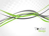 Abstrakte farbe welle gestaltungselement, vektor — Stockvektor