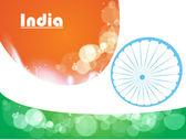 Creative vector illustration of Indian tri-colour flag for Republic Day concept — Stock Vector