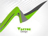 Abstrakt färg våg designelement, vektor — Stockvektor