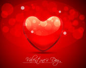 Abstract Vector Heart for Valentines Day Background — Vetorial Stock