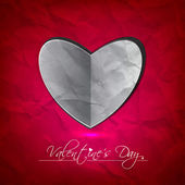 Abstract Vector Heart for Valentines Day Background — Vettoriale Stock