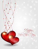 Abstract Vector Heart for Valentines Day Background — Stok Vektör