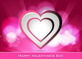 Corazón de vectores abstractos para el día de san valentín fondo — Vector de stock