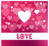 Abstract Vector Hear for Valentines Day Background — Stock Vector
