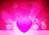 Abstract Vector Heart for Valentines Day Background — Stock Vector