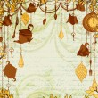 Antique background with tea party theme — Stock Vector