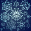 Seamless snowflakes background — Stock Vector #17823037