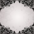 Luxury background with vintage frame and stripe paper for design — Imagen vectorial