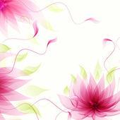 абстрактный фон с векторный цветок розового лотоса — Cтоковый вектор