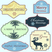 Merry Christmas frames set — Stock Vector