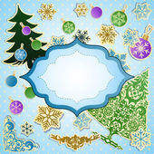 Vector scrapbooking set for Christmas. — Stock Vector