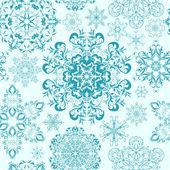 Kesintisiz kar taneleri arka plan — Stok Vektör