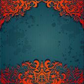 豪华背景与设计复古框架和条纹纸 — 图库矢量图片