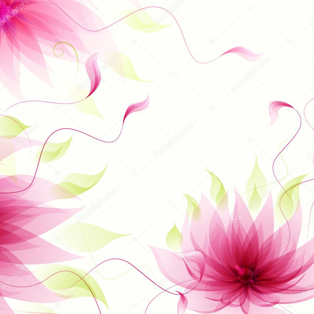 Abstract Background With Vector Pink Lotus Flower Stock