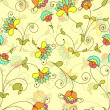 Vector seamless floral pattern — Stock Vector #20152319