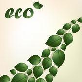 エコのベクトルの背景 — ストックベクタ