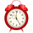 Vector icon of red alarm clock — Stock Vector