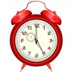 Vector icon of red alarm clock — Stock Vector
