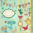 Vector scrap booking set. - Stockvectorbeeld