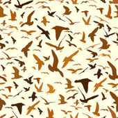Seamless pattern with seagull silhouettes — Stock Vector