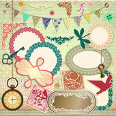 Vector scrap booking set — Stock Vector