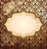 Invitación de lujo oro — Vector de stock