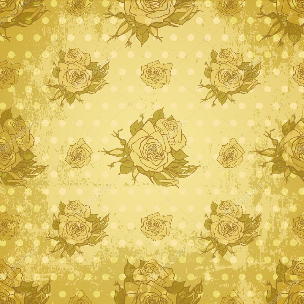 Vintage Rose Wallpaper Vector Vector Vintage Wallpaper With