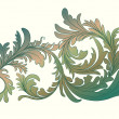 Vintage calligraphic detailed floral branch - Векторная иллюстрация