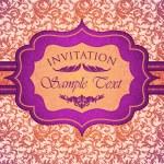 Bright vintage invitation card — Stock Vector
