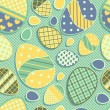 Royalty-Free Stock Векторное изображение: Seamless Easter pattern with eggs