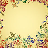Vintage colorful floral background — Stock Vector