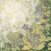 Vektör yaz arka çiçekli — Stok Vektör