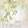 Mistletoe Christmas shimmering background — Vetorial Stock #20201699