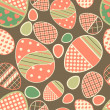 Royalty-Free Stock : Easter retro seamless border with eggs.