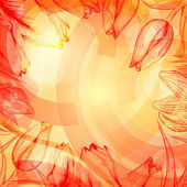 Techno abstracto subida fondo con flores — Vector de stock