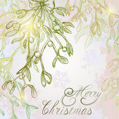 Mistletoe Christmas shimmering background — Vetorial Stock